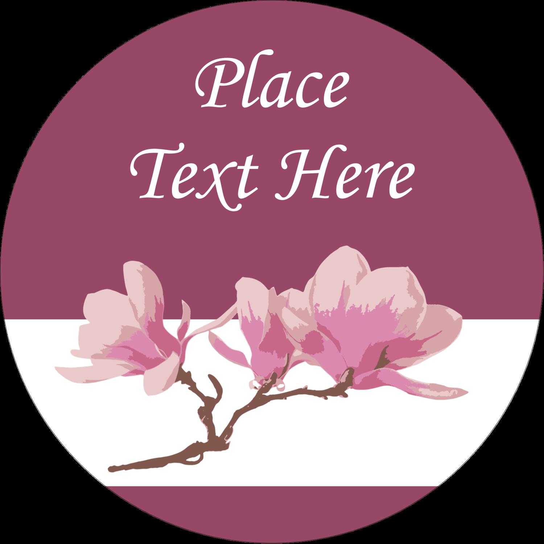 """2½"""" Round Label - Spring Magnolia"""