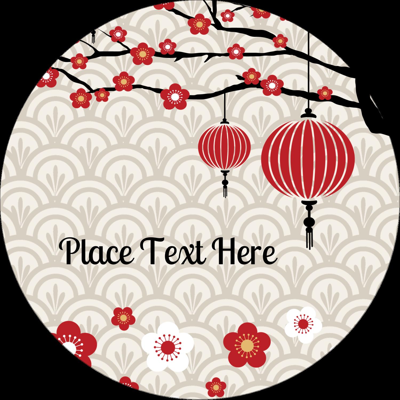 """2"""" Round Label - Chinese New Year"""