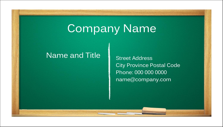 "2"" x 3½"" Business Card - Chalkboard Education"