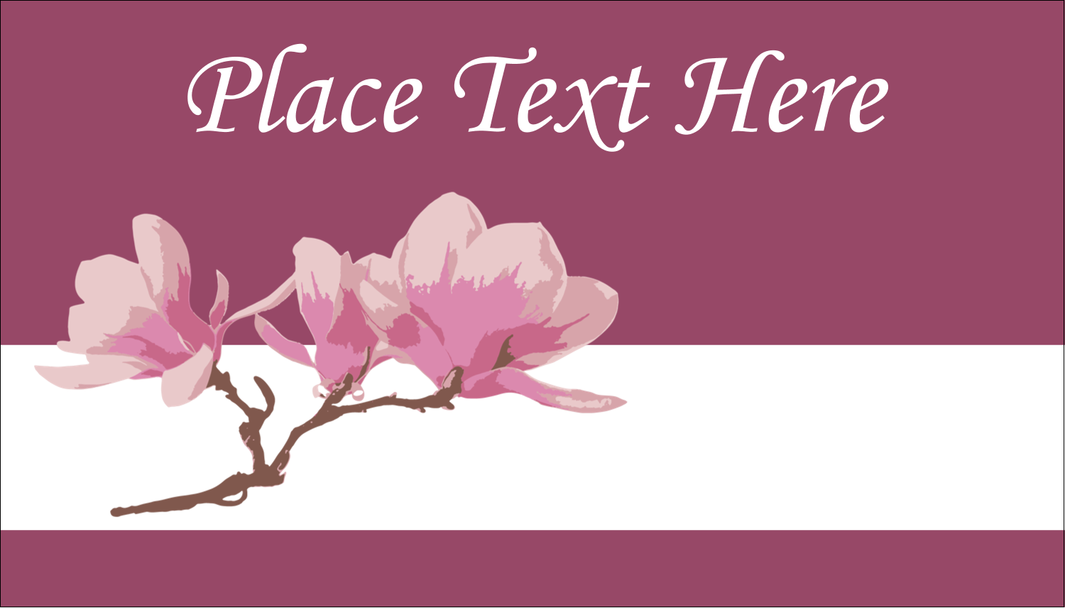 "2"" x 3½"" Business Card - Spring Magnolia"