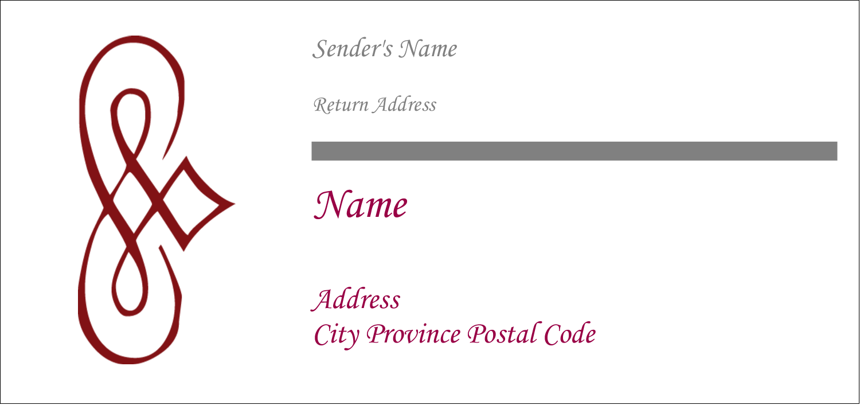 "4¼"" x 2"" Mailing Label - Diamond Scrollwork"