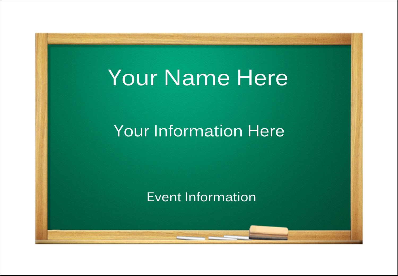 "2-11/12"" x 3⅜"" Name Badge Label - Chalkboard Education"