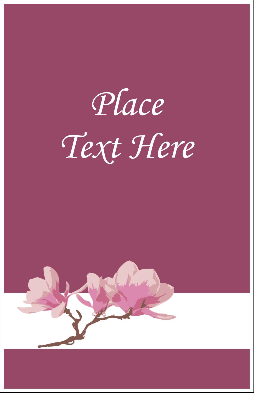 "5"" x 8½"" Half Fold Card - Spring Magnolia"