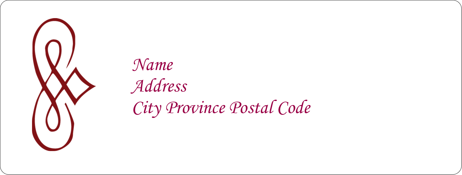 x  Address Label - Diamond Scrollwork