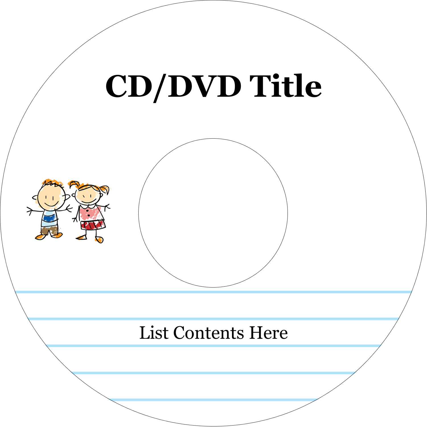 "4.65"" CD-DVD Label - Child Education"