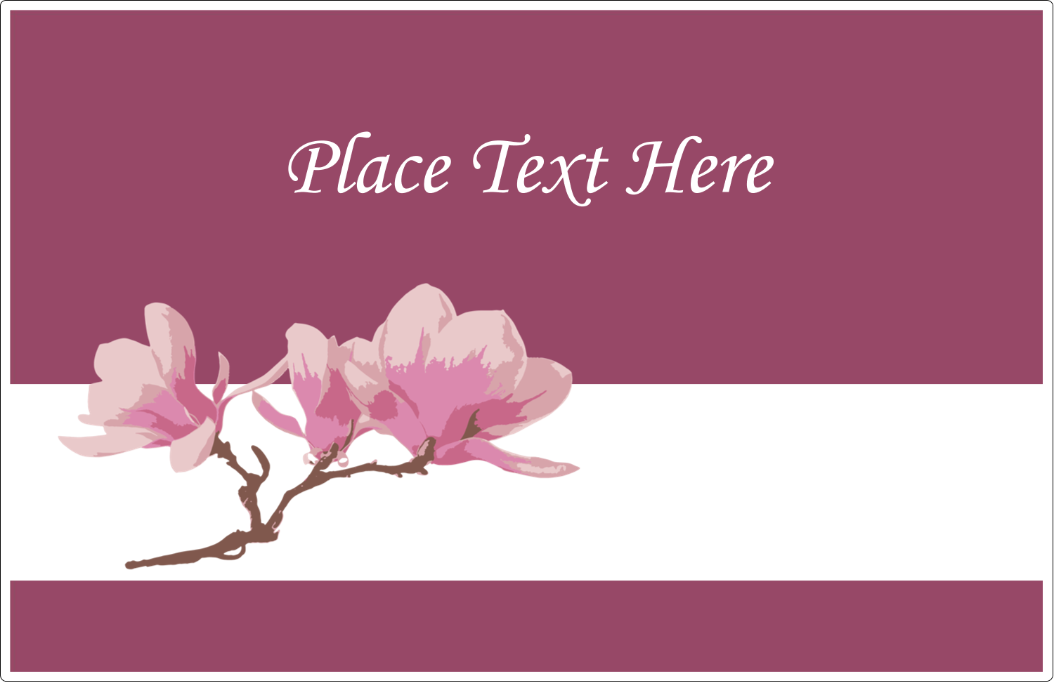 "5½"" x 8½"" Shipping Label - Spring Magnolia"
