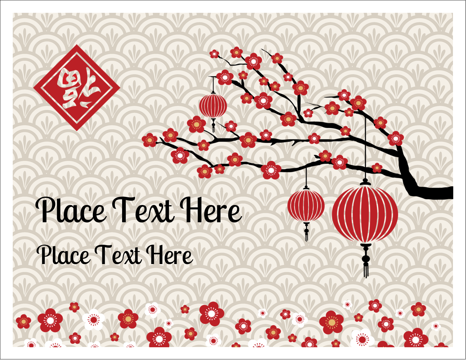 "5½"" x 4¼"" Note Card - Chinese New Year"