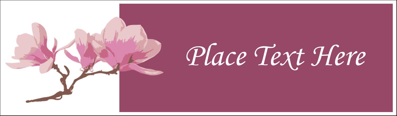 """2½"""" x 8½"""" Tent Card - Spring Magnolia"""