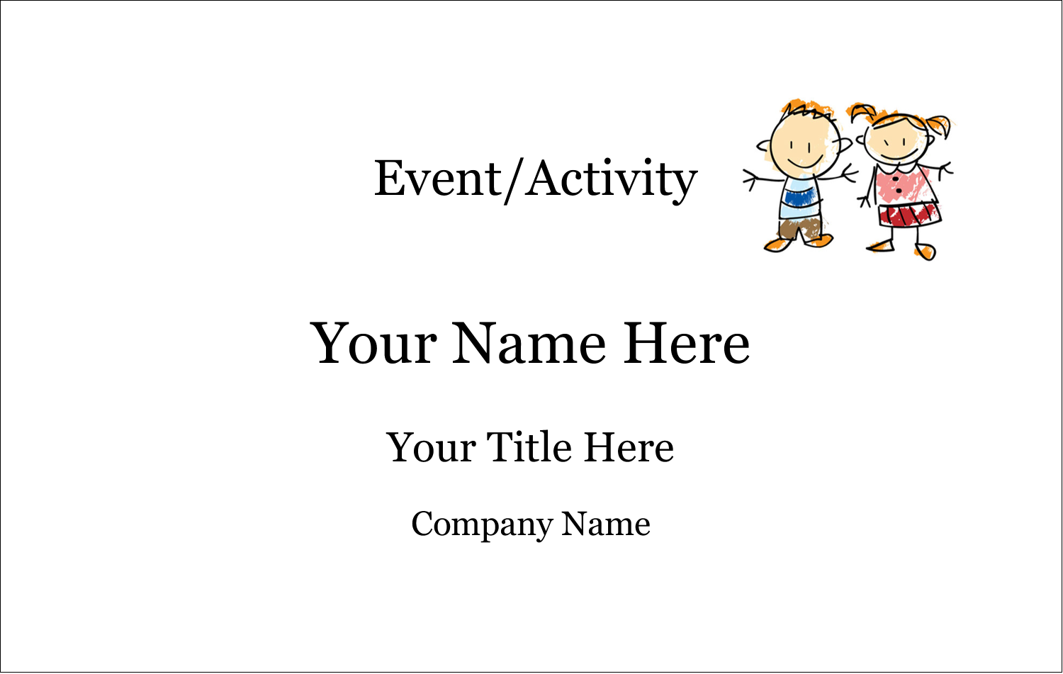 2¼ x 3½ Name Tags - Child Education