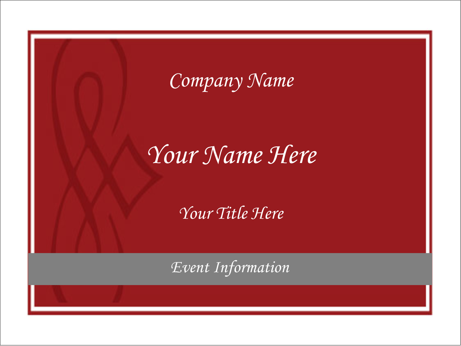 "4"" x 3"" Name Tags - Diamond Scrollwork"