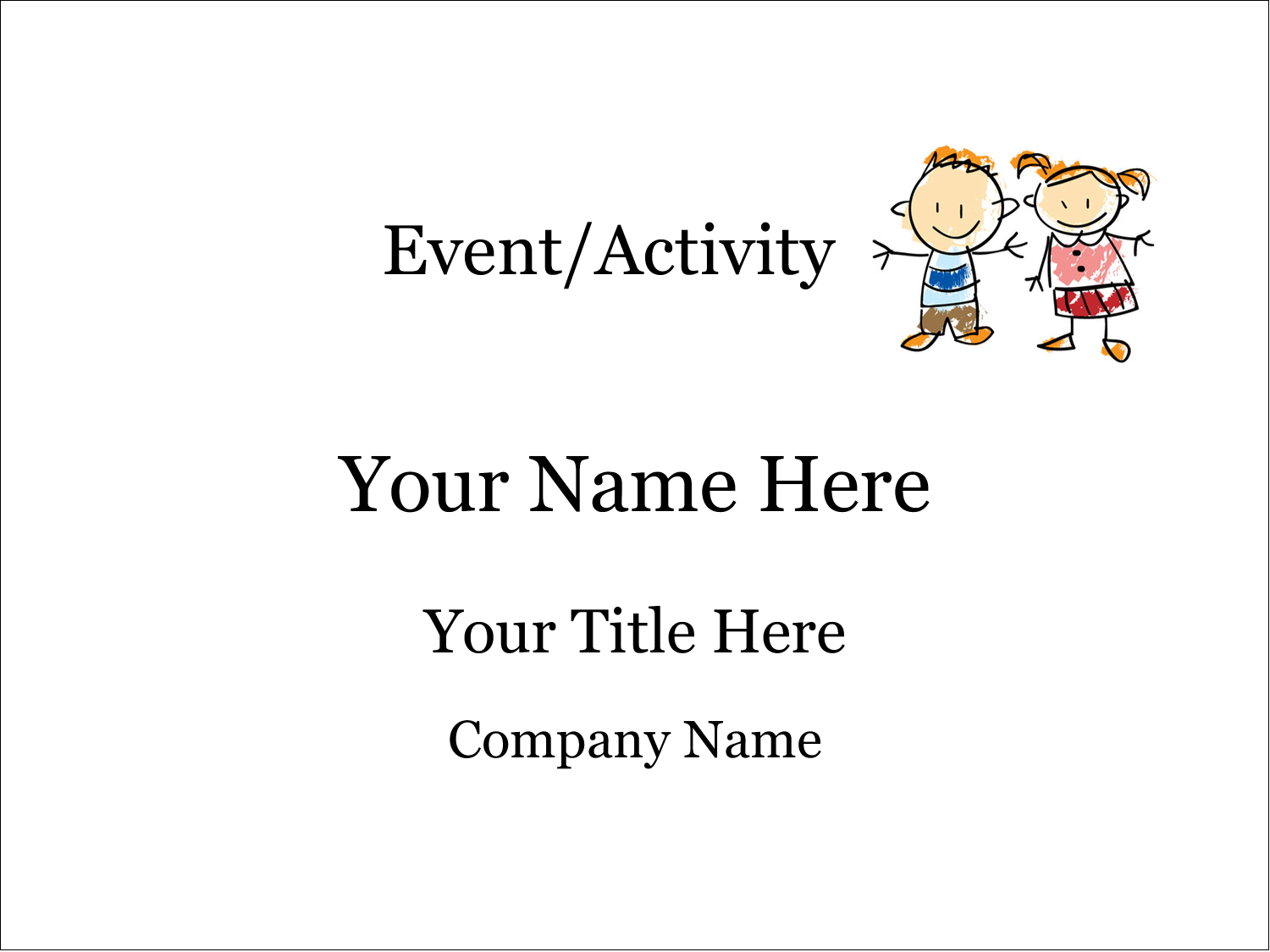 "4"" x 3"" Name Tags - Child Education"