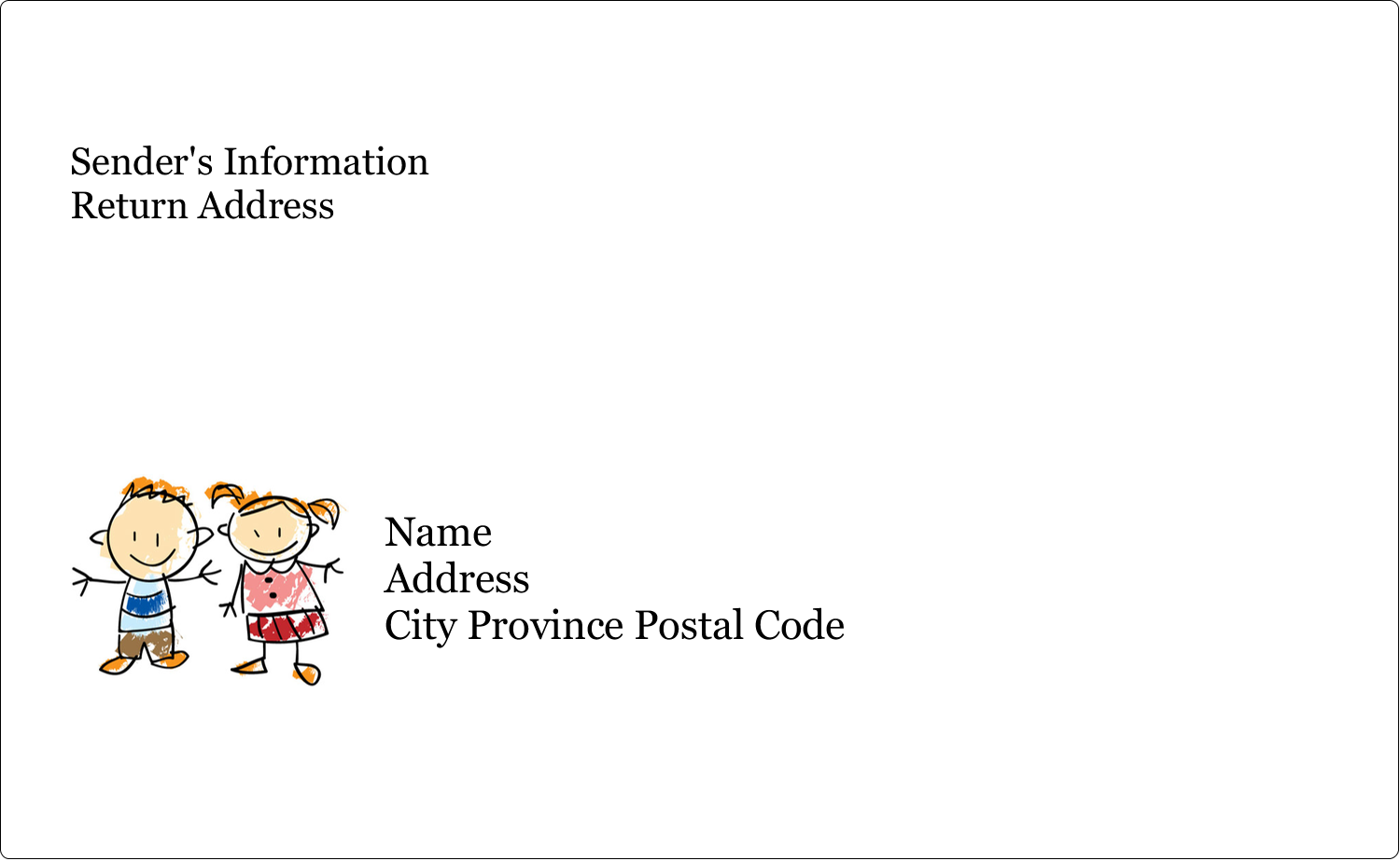 """8⅛"""" x 5"""" Shipping Label - Child Education"""