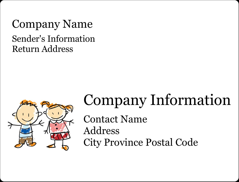 "2⅝"" x 2"" ID Label - Child Education"
