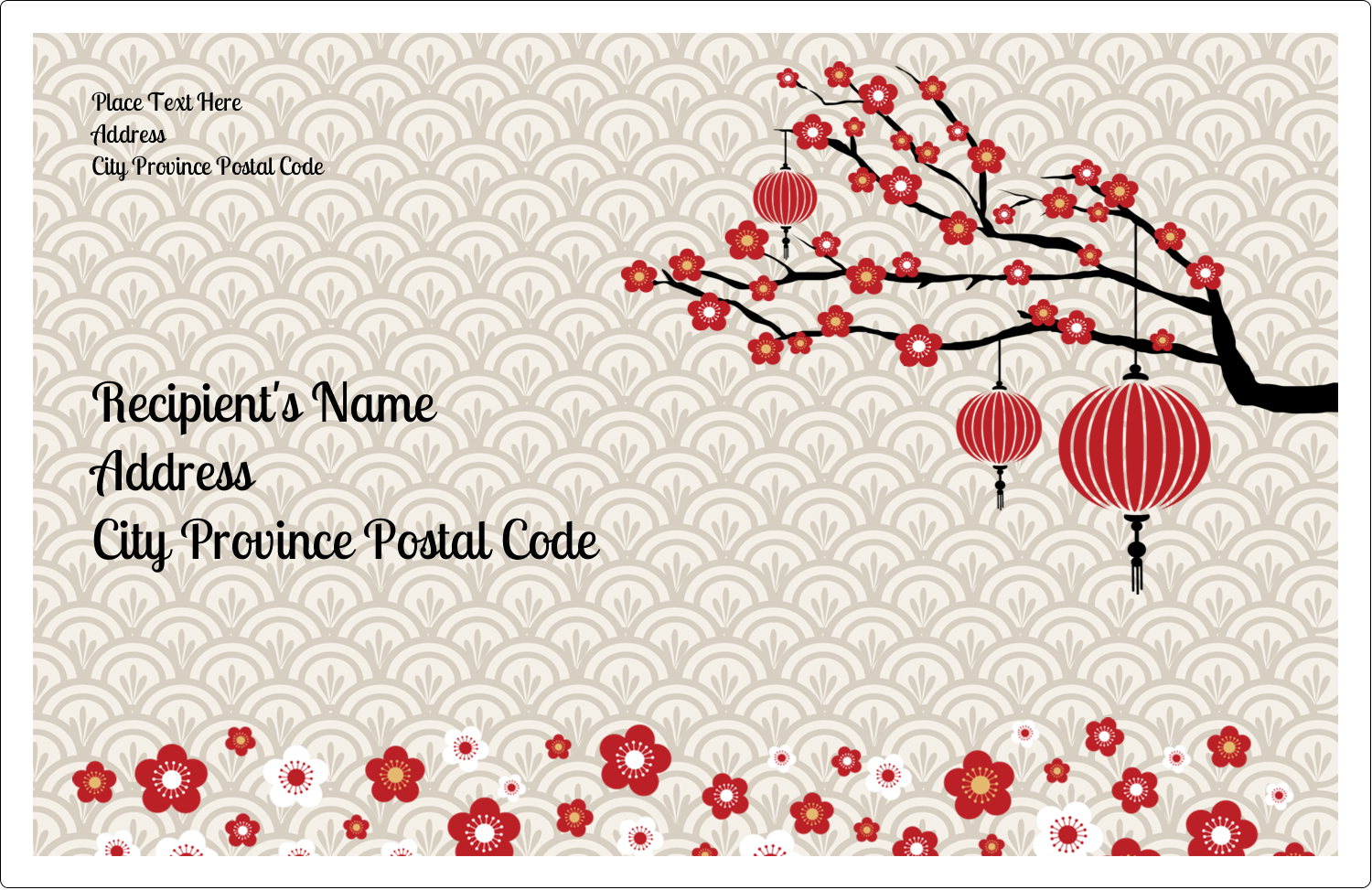 "5½"" x 8½"" Shipping Label - Chinese New Year"