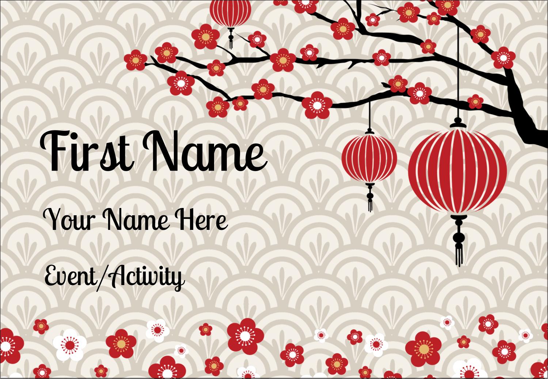 "3⅜"" x 2⅓"" Name Badge - Chinese New Year"