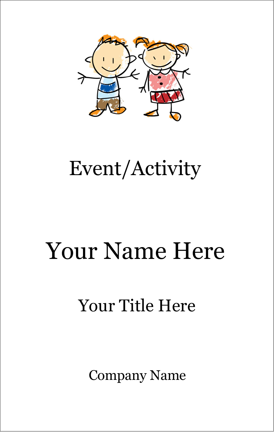 3½ x 2¼ Name Tags - Child Education