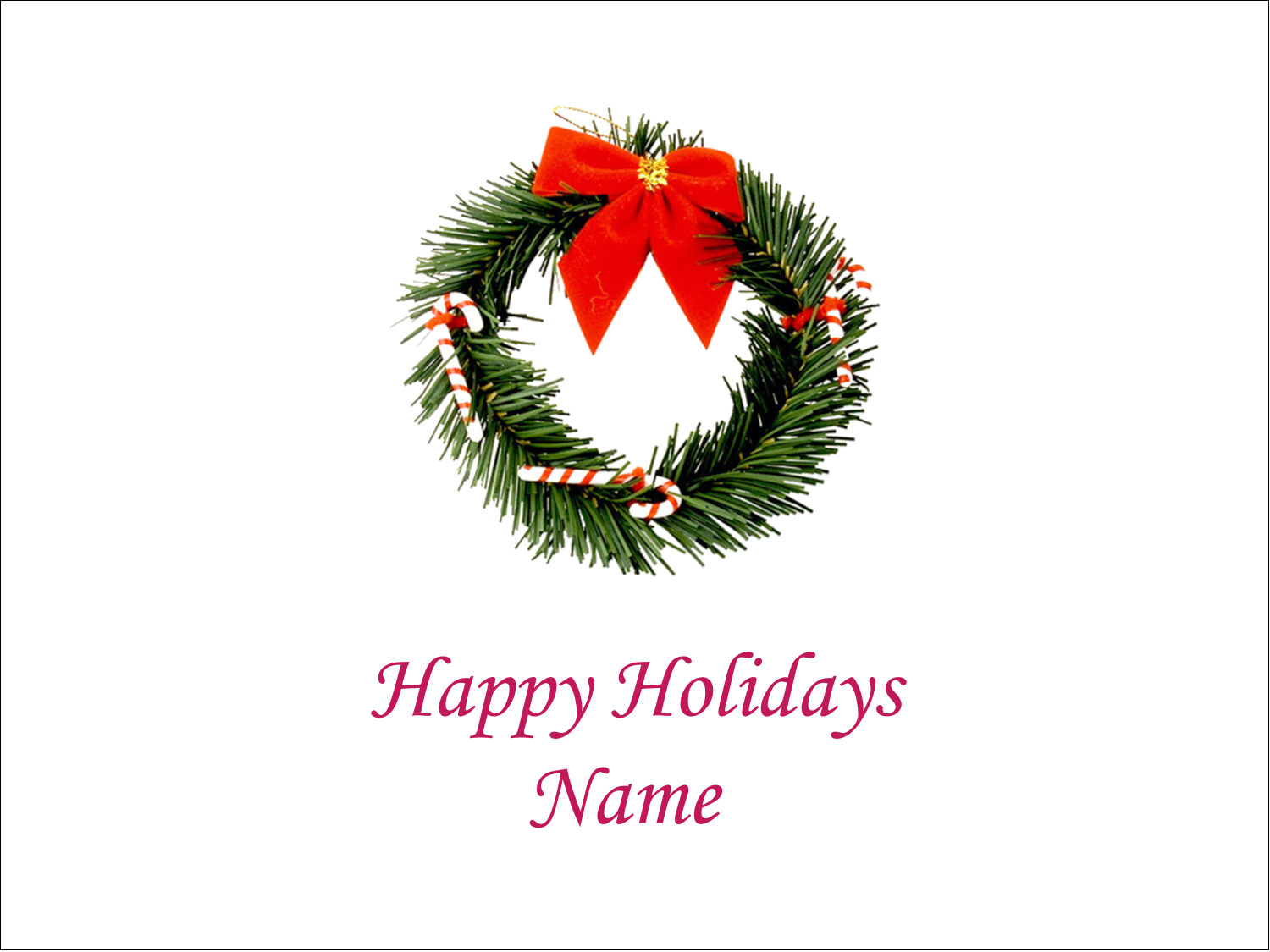 "3"" x 4"" Name Tags - Christmas Garland"