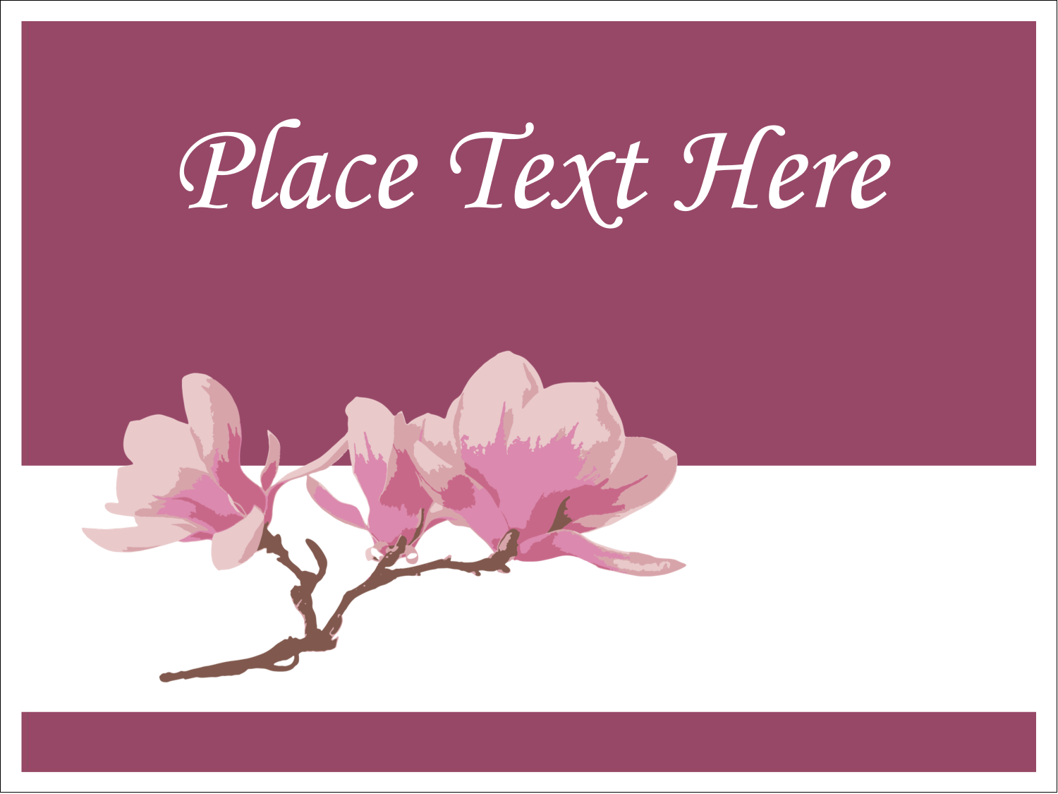 "3"" x 4"" Name Tags - Spring Magnolia"
