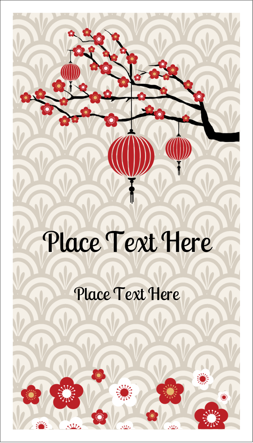 "3½"" x 2"" Business Card - Chinese New Year"