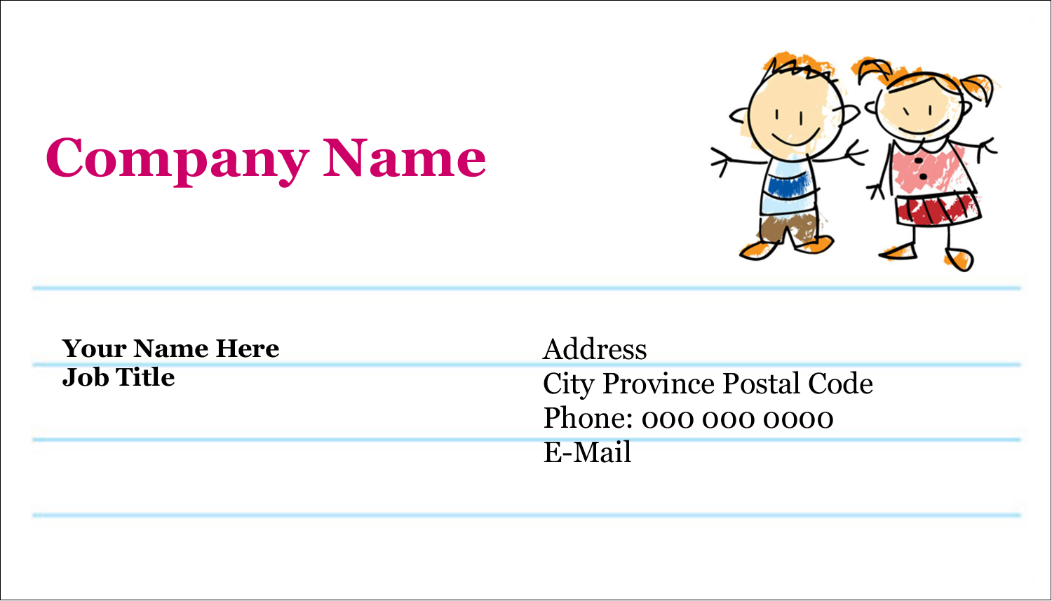 "2"" x 3½"" Business Card - Child Education"