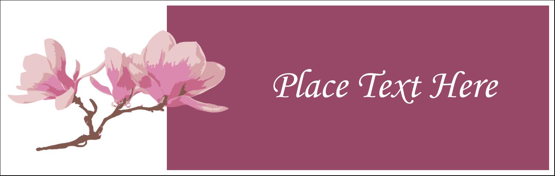 """3½"""" x 11"""" Tent Card - Spring Magnolia"""