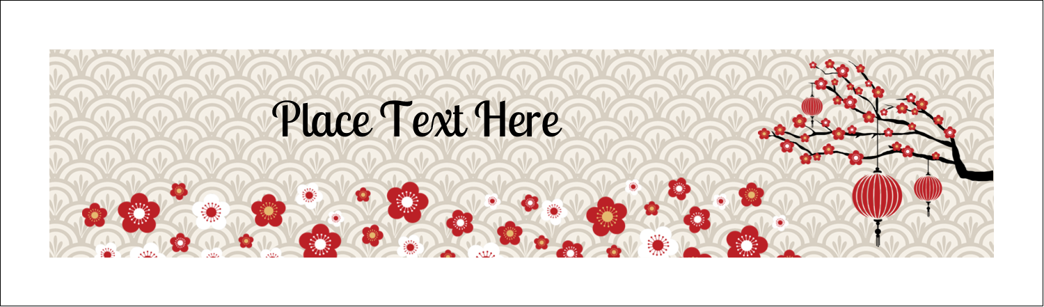 """2½"""" x 8½"""" Tent Card - Chinese New Year"""