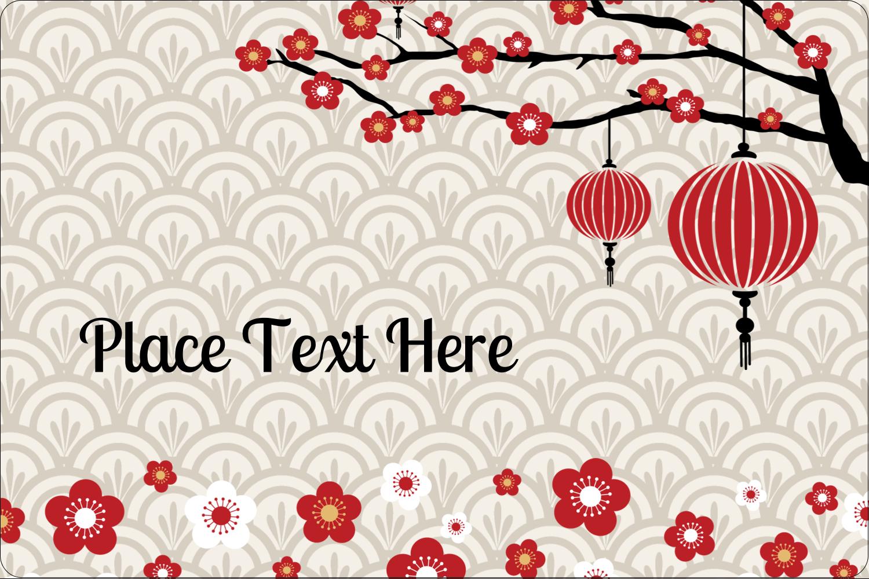"""2"""" x 3"""" Rectangular Label - Chinese New Year"""