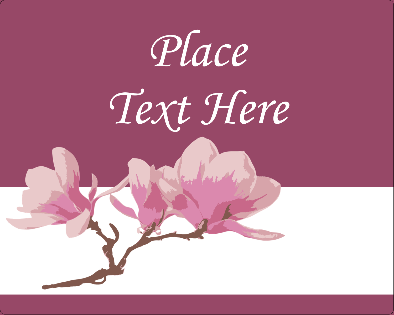 "3"" x 3¾"" Rectangular Label - Spring Magnolia"