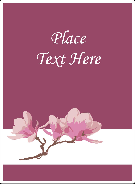 """4¾"""" x 3½"""" Rectangular Label - Spring Magnolia"""