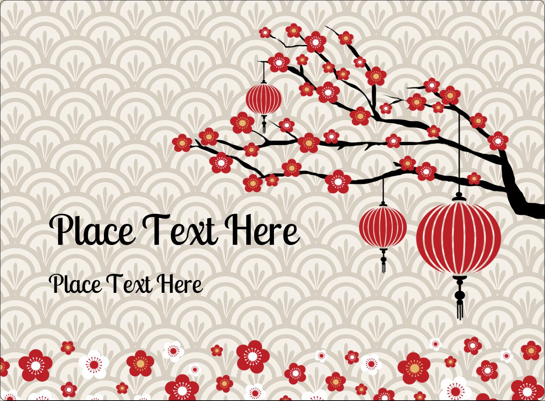 """3½"""" x 4¾"""" Rectangular Label - Chinese New Year"""
