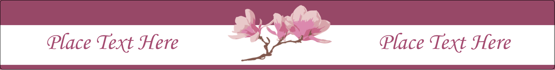 "9¾"" x 1¼"" Wraparound Label - Spring Magnolia"