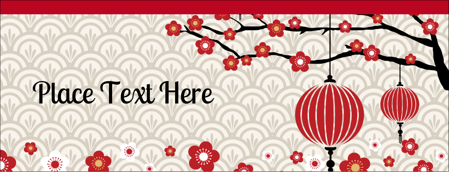 "1-7/16"" x 3¾"" Tent Card - Chinese New Year"
