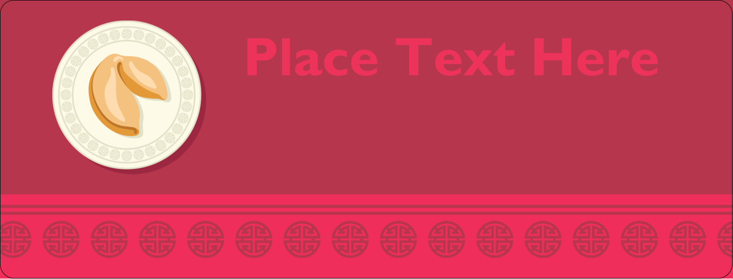 """½"""" x 1¾"""" Address Label - Chinese New Year with Fortune"""
