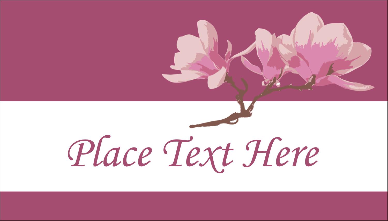 "2"" x 3½"" Business Card - Spring Magnolia"