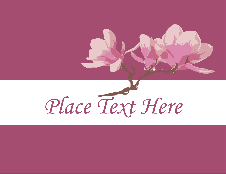 "4¼"" x 5½"" Postcard - Spring Magnolia"