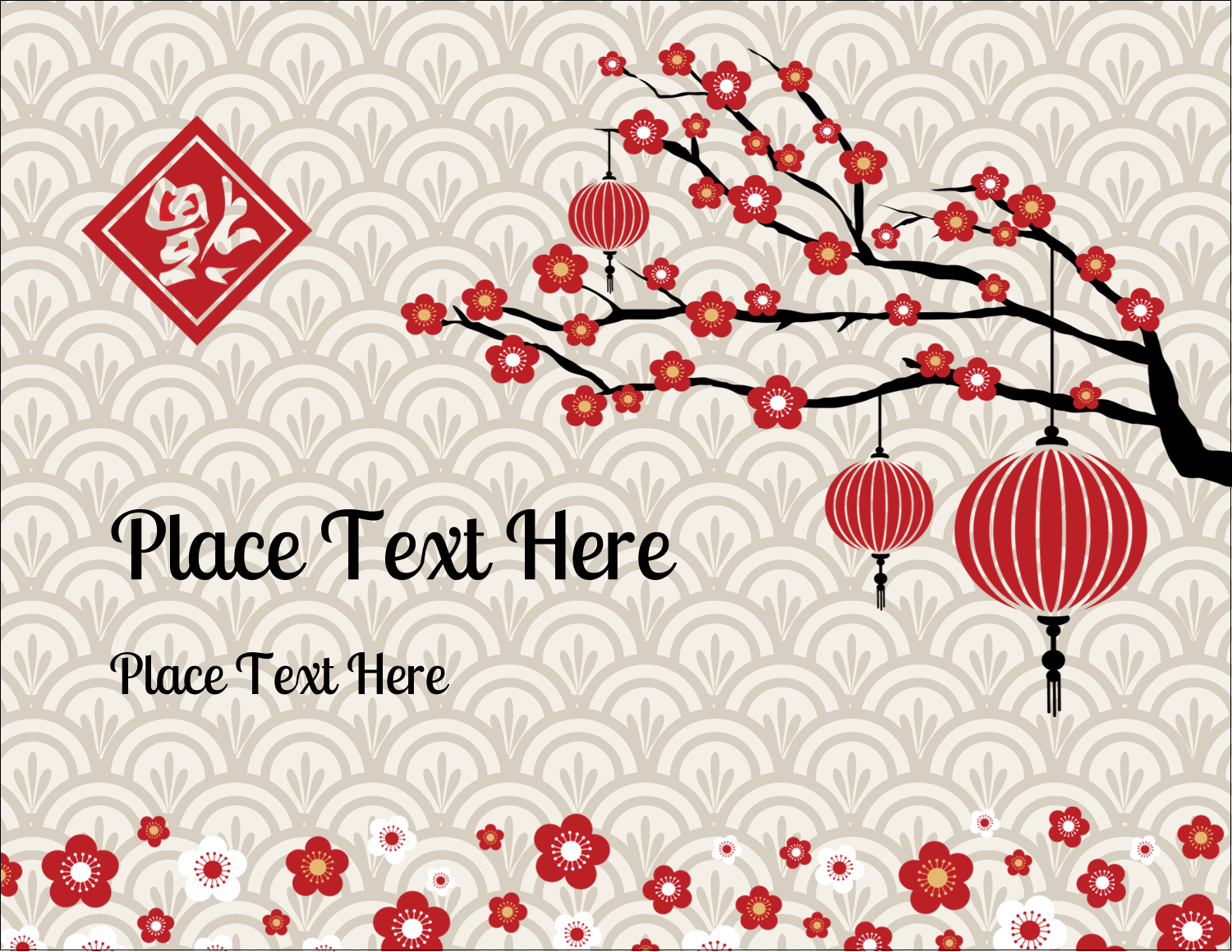 """5½"""" x 4¼"""" Postcard - Chinese New Year"""