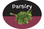 Add fresh style to projects with Spices and Herbs Chalkboard Parsley templates.