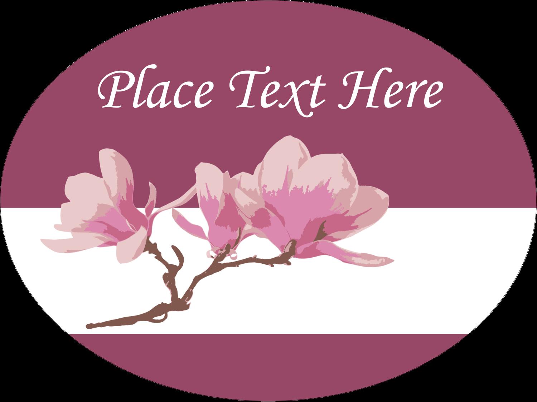 "4"" x 3"" Oval Label - Spring Magnolia"