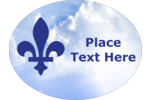 Celebrate French Canada with a Heavenly Fleur-De-Lis printable pre-designed template.