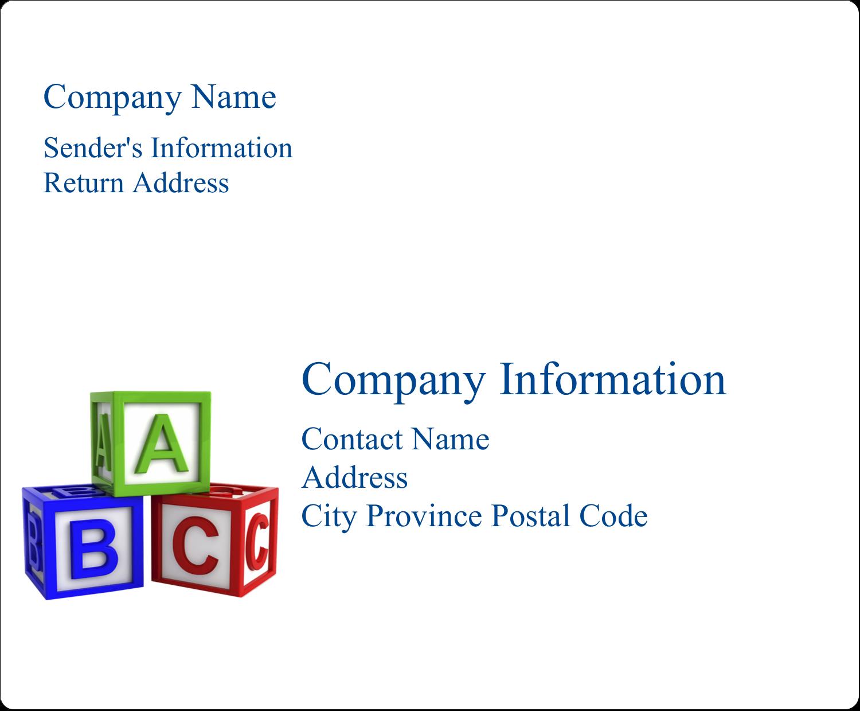 """4"""" x 3⅓"""" Shipping Label - Child Education Blocks"""