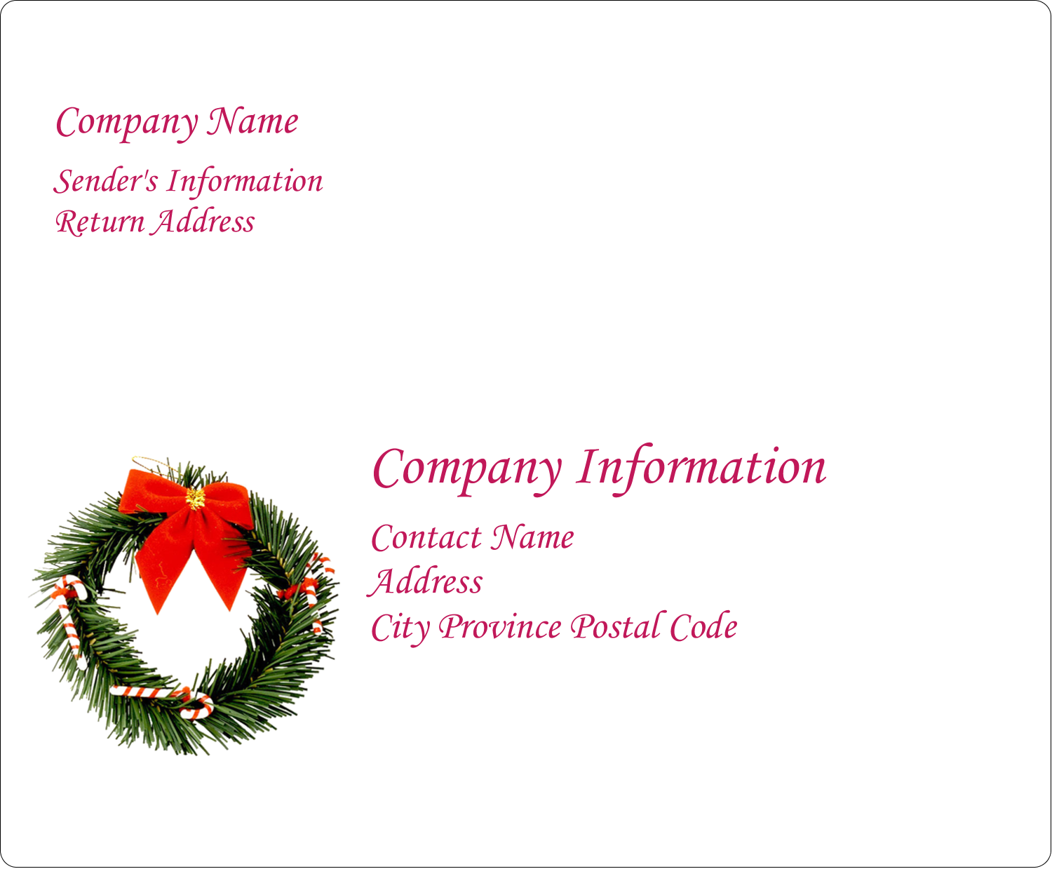"4"" x 3⅓"" Shipping Label - Christmas Garland"
