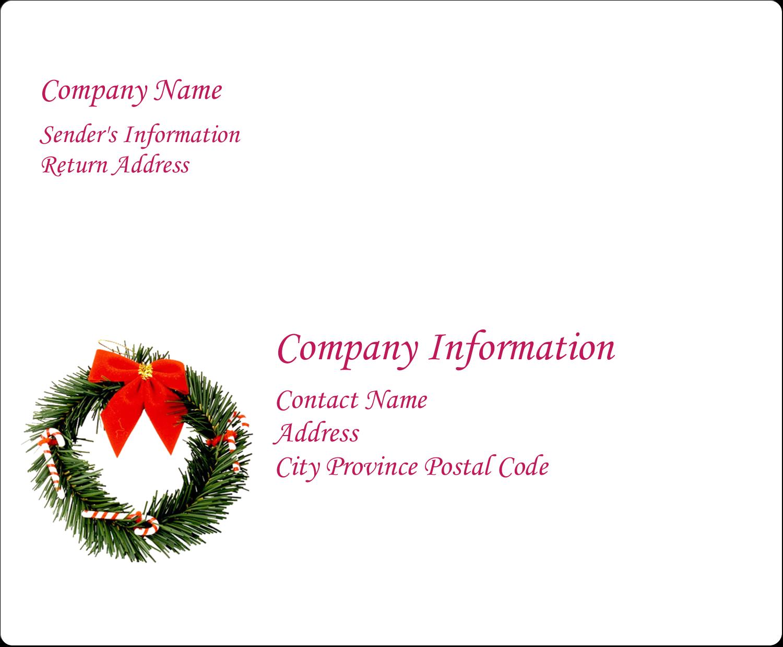 "4"" x 3⅓"" Shipping Label - Christmas Garland"