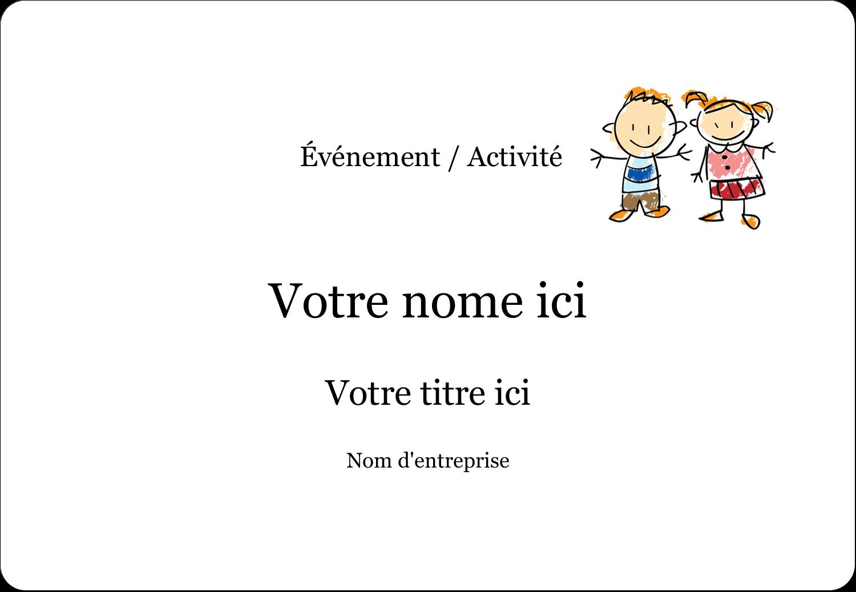 """3⅜"""" x 2⅓"""" Badges - Éducation des enfants"""