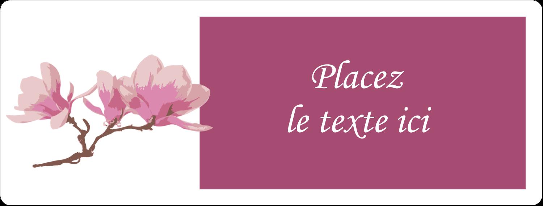 """1"""" x 2⅝"""" Étiquettes d'adresse - Magnolia printanier"""