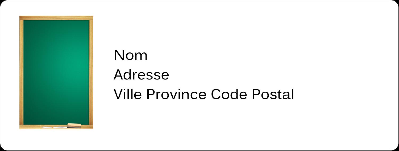 """1"""" x 4"""" Étiquettes d'adresse - Tableau vert"""