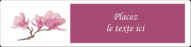 """1"""" x 4"""" Étiquettes d'adresse - Magnolia printanier"""
