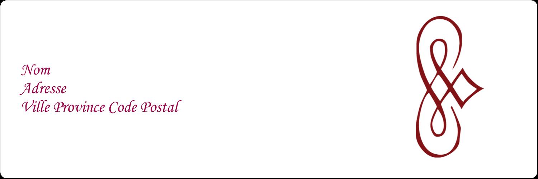 """1⅓"""" x 4"""" Étiquettes d'adresse - Diamant stylisé"""