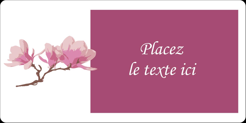 """2"""" x 4"""" Étiquettes d'expédition - Magnolia printanier"""