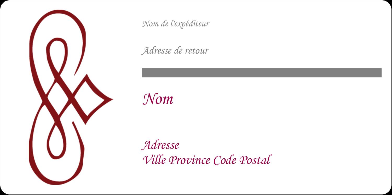 """3-7/16"""" x ⅔"""" Étiquettes de classement écologiques - Diamant stylisé"""