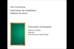 Tableau vert Étiquettes D'Adresse - gabarit prédéfini. <br/>Utilisez notre logiciel Avery Design & Print Online pour personnaliser facilement la conception.
